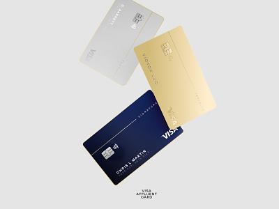 Visa Affluent Card - 01 visual design graphic design card creditcard visa product design branding design typography