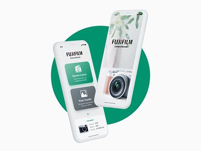 Fujifilm Camera Remote App interaction design user inteface mobile app mobile ui camera photography photo fujifilm app design digital product product design user experience user interface ui  ux ux ui