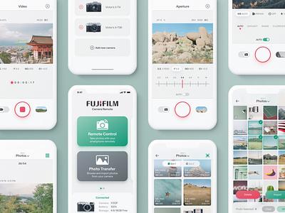 Fujifilm Camera Remote App - Overview mobile app mobile ui interaction design fujifilm photo camera photography app design digital product product design user experience user interface uiux ux ui