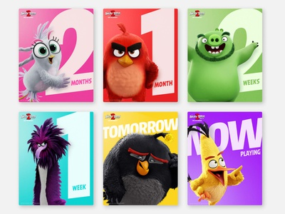 The Angry Birds Movie 2 Social Assets - Instagram Static instagram instagram post socialmediamarketing socialmedia social movie design poster design typography graphic design