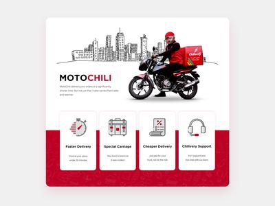 Chilivery.com - Motochili Landing Page