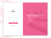 Dribbble Login login page web design graphic design landing page user interface website web ui pink dribbble design b.smith