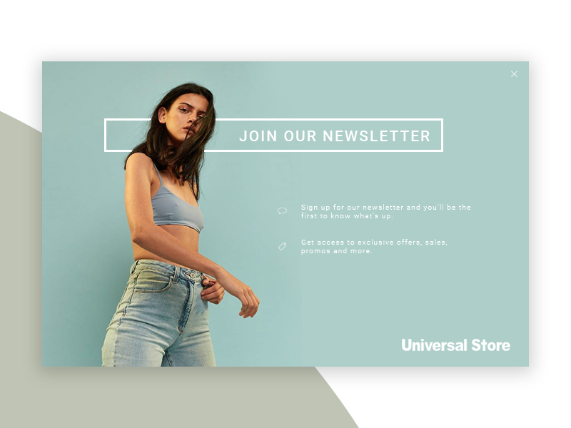 Newsletter Popup (Daily Ui #2) dailyui ux simple graphics web design app web interface pop up clean ui