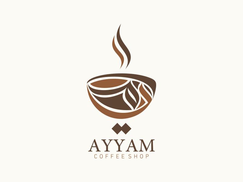 ayyam coffee shop logo by mohammad farik dribbble dribbble