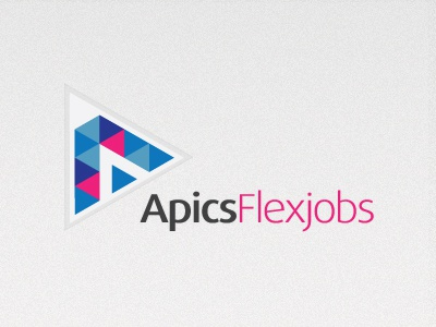 Apics Dribbble logo jobcompany triangle
