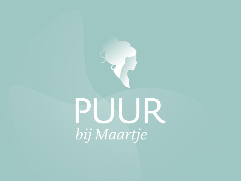 Puur Bij Maartje logo beaty salon female silhouet