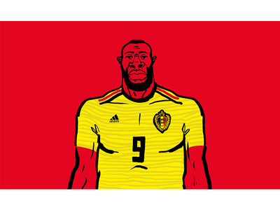 Romelu Lukaku brushpen cartoon doodle illustration football worldcup belgium lukaku romelu