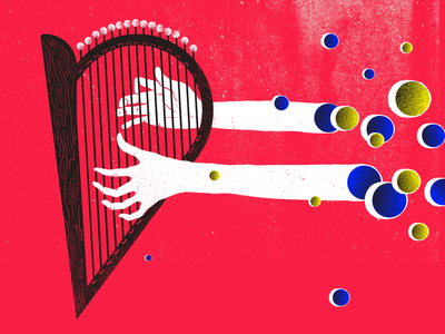 Heartful Music quotes quotes magazine heart hands illustration harp