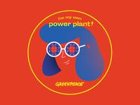 Greenpeace sticker - Sun