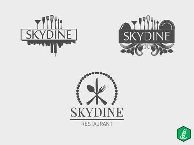 Logo Design - SKYDINE logo design restaurant logo logo
