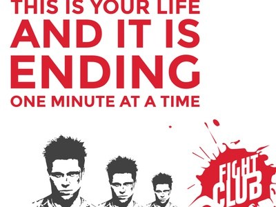 Fight Club Poster hollywood movie tyler durden posters fight club