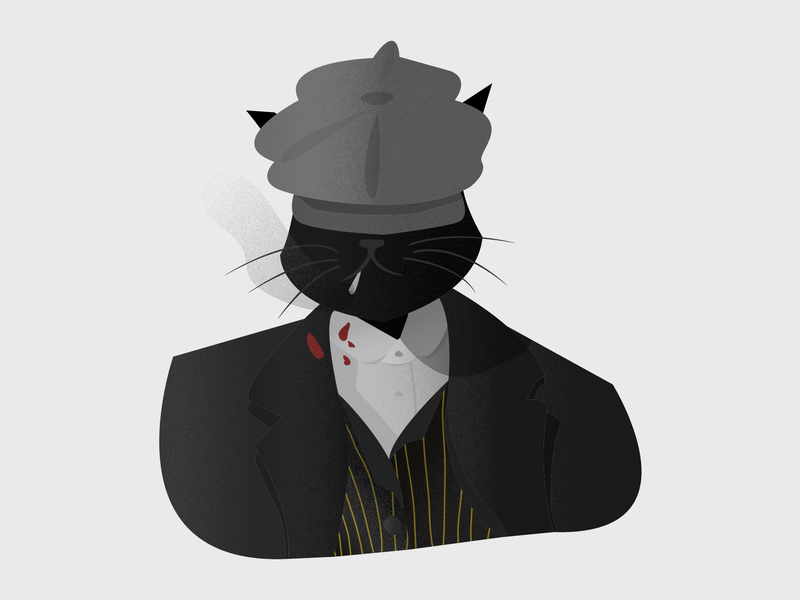 Mr. Theowmas Shelby thomas shelby tv show tv shows illustrations sketch cats cat peaky blinders illustration artwork art