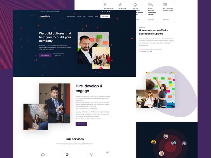 Bonafide HR Website web design webdesign website design web ux