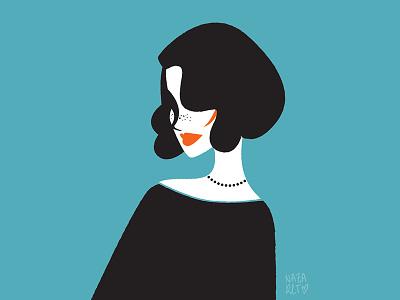 Missachet girlie moda ilustracion illustration fashion vintage