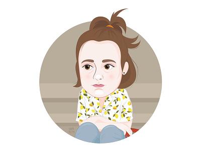 Hannah Horvath from GIRLS cartoon lena dunham girls hbo hbo girls hannah horvath