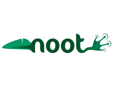 Noot logo brand identity typography