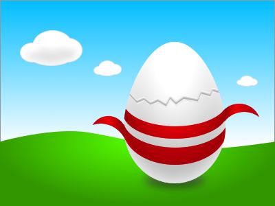 Happy Easter sketch egg illustration ribbon vector sketchapp