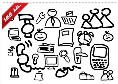 Vector symbols vector sketch doodle symbols