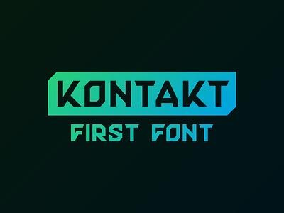 Kontakt Font typography font