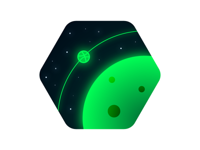 Orbbbit hex orbit planet space dribbble