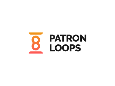Patron Loops Logo branding visual identity identity company icon logo people loop