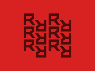 R Pattern futuristic red custom pattern typography font