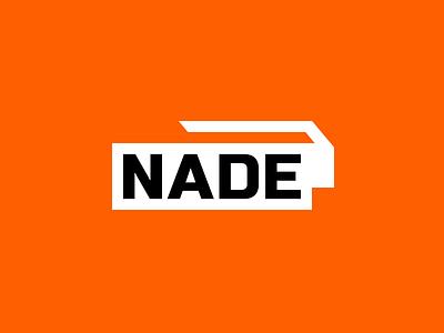 Nade Logo orange gaming esports logo grenade
