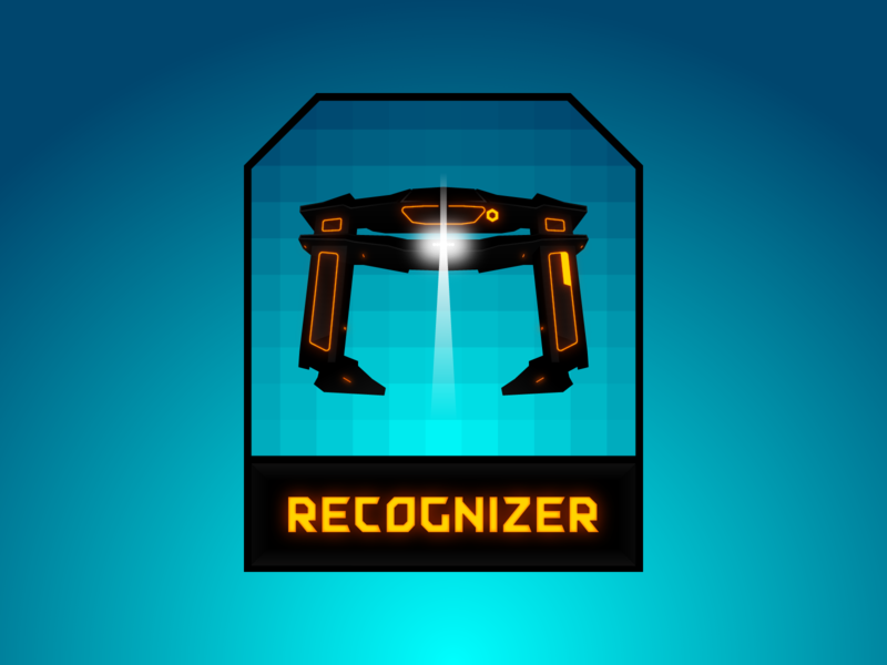 Recognizer font typography illustration gradient movie badge