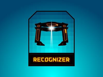 Recognizer font typography illustration gradient movie badge