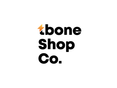 tbone Shop Co. Logo gradient branding typography logo batteries electronics store