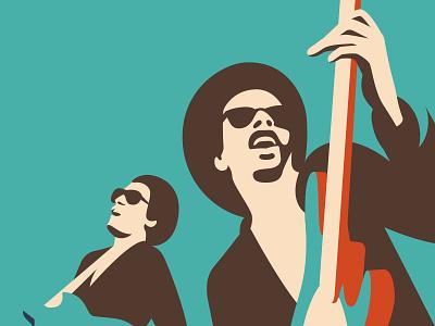 Groovin bass illustration groove funk disco johnson brothers