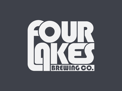 Four Lakes Brewing Co. pale ale craft beer ipa wordmark logotype identity branding brewery brewing beer logo
