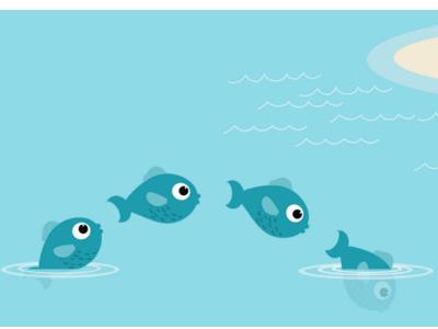 Fish leap