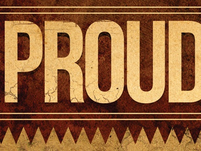 Proud to Support rodeo brown tan grunge eroded team support proud radio