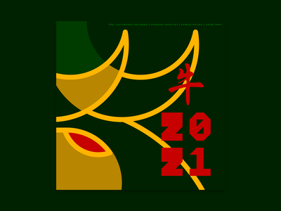 Chinese new year 2021 graphicdesign design typography type