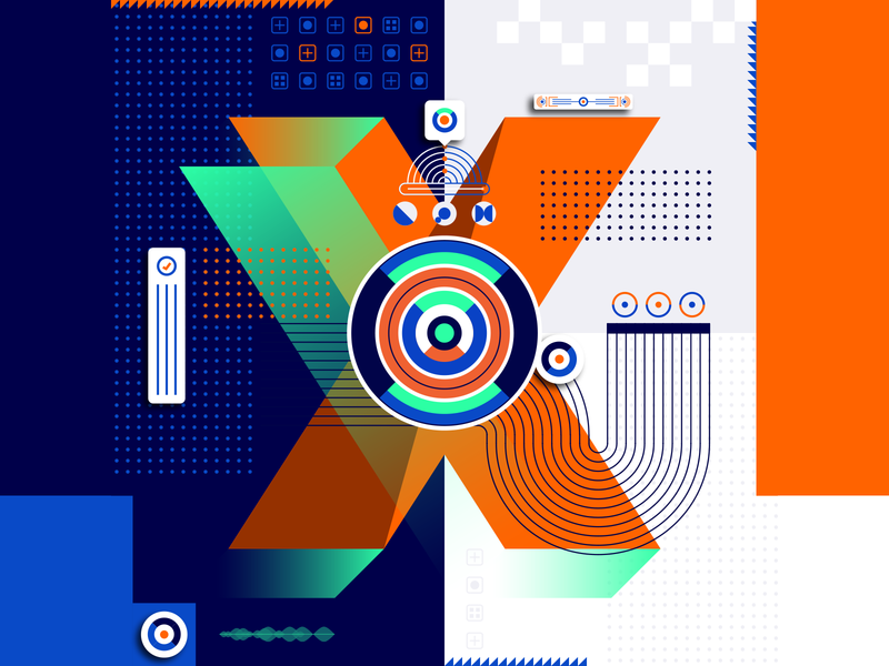 36 Days Of Type_X   6th Edition x geometric design graphicdesign illustration vector vector art flat data input output information infographic 36 type typography experiments experimental 36days 36daysoftype