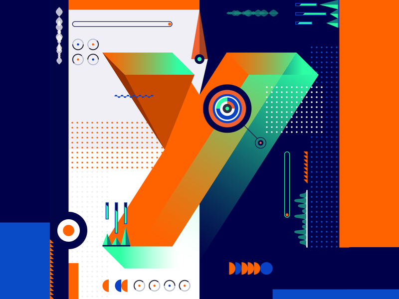 36 Days Of Type_Y   6th Edition y 36daysoftype 36days experimental experiments typography type 36 infographic information output input data flat vector art vector illustration graphicdesign design geometric