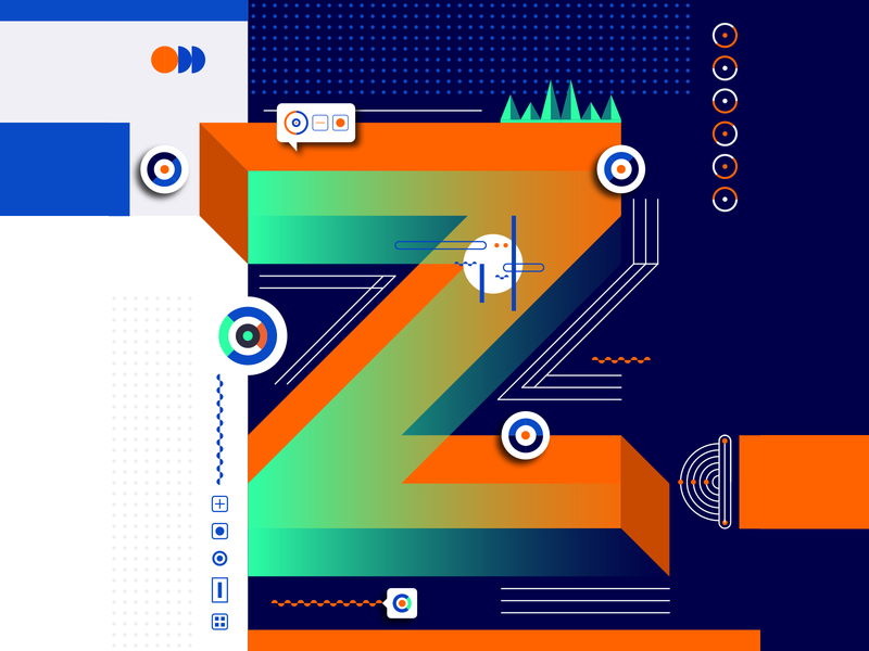 36 Days Of Type_Z   6th Edition z geometric design graphicdesign illustration vector vector art flat data input output information infographic 36 type typography experiments experimental 36days 36daysoftype