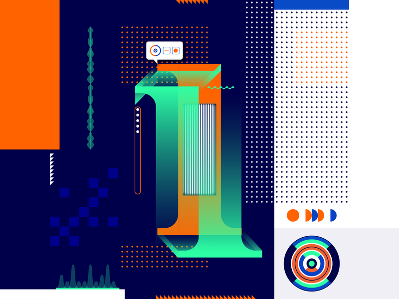 36 Days Of Type_1   6th Edition 1 geometric design graphicdesign illustration vector vector art flat data input output information infographic 36 type typography experiments experimental 36days 36daysoftype
