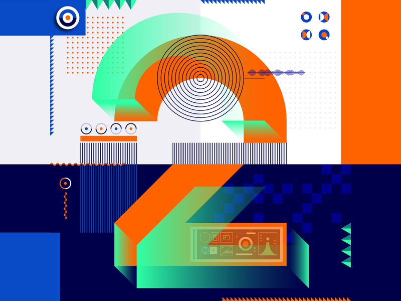 36 Days Of Type_2   6th Edition 2 geometric design graphicdesign illustration vector vector art flat data input output information infographic 36 type typography experiments experimental 36days 36daysoftype