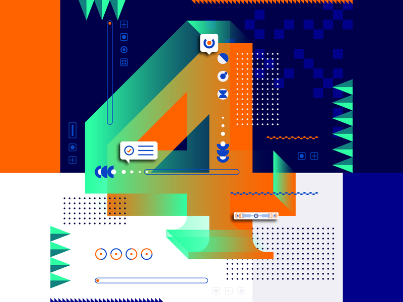 36 Days Of Type_4   6th Edition 4 geometric design graphicdesign illustration vector vector art flat data input output information infographic 36 type typography experiments experimental 36days 36daysoftype