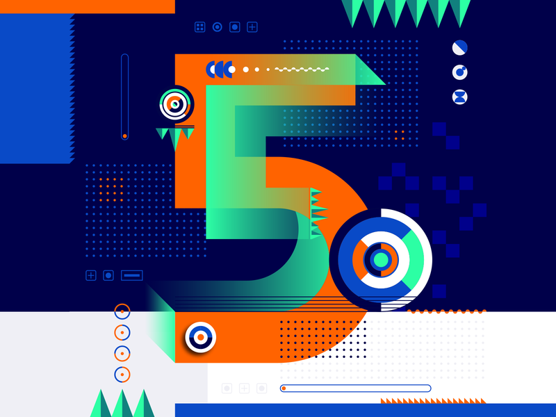 36 Days Of Type_5   6th Edition 5 36daysoftype 36days experimental experiments typography type 36 infographic information output input data flat vector art vector illustration graphicdesign design geometric