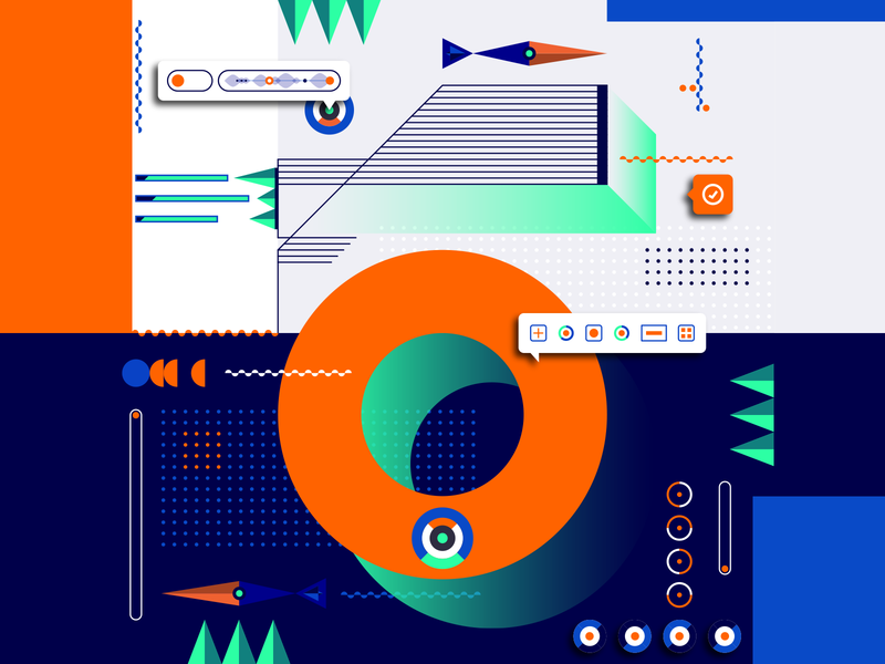 36 Days Of Type_6   6th Edition 6 geometric design graphicdesign illustration vector vector art flat data input output information infographic 36 type typography experiments experimental 36days 36daysoftype
