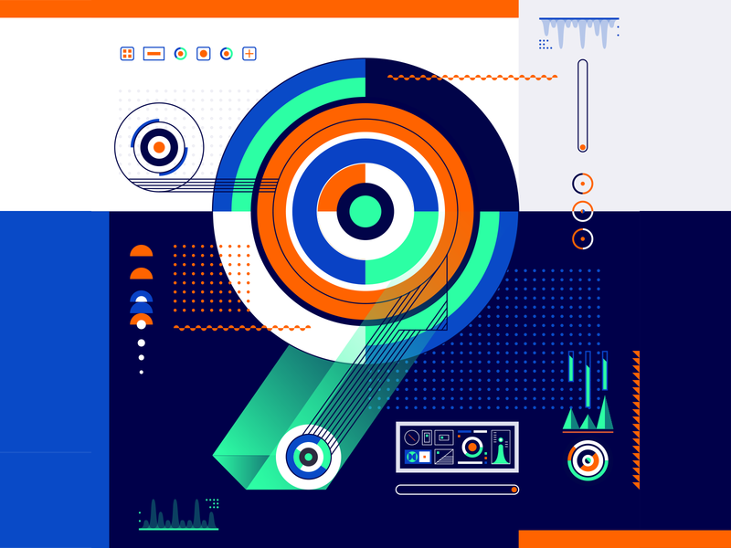 36 Days Of Type_9   6th Edition 9 geometric design graphicdesign illustration vector vector art flat data input output information infographic 36 type typography experiments experimental 36days 36daysoftype