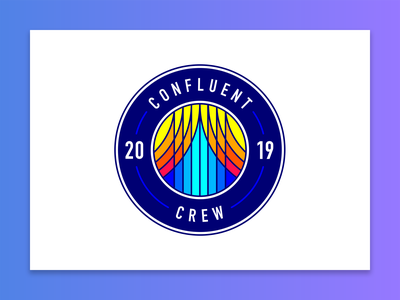 Confluent Crew design illustration confluent vector logo vectorart flat flat design crew team graphic design tech technology startup internship intern star stars shield