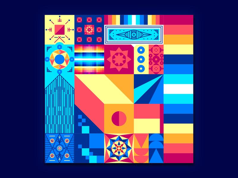 Patterns flatdesign flat color palette colorful pattern design design graphic  design designer graphicdesign experiments experimental illustration illlustrator pattern patterns color shape colors shapes