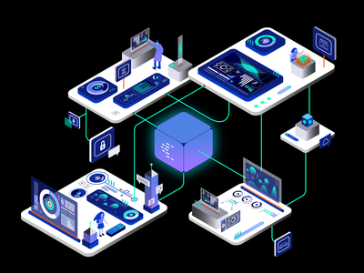 The complete event streaming platform for the enterprise. technology tech isometric design isometric illustration illustration design illustration illustrator isomtric isometry vector illustration vectorart vector confluentdesignteam confluent