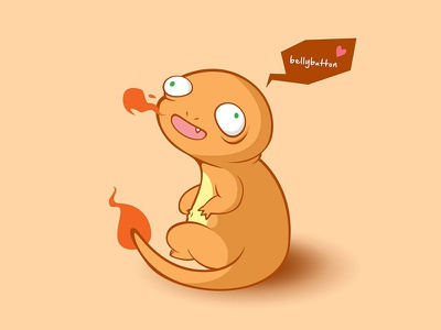 #4: Charmanderp digital art illustration anime cartooning cartoon vector art vector pokemon charmander