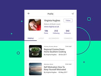 Profile for Book Readers profile green blue mobile app reader book