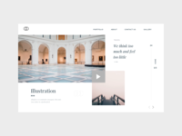 Branding Concept - first impression landing page